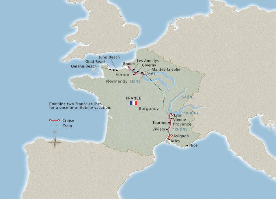 Itinerary map of France