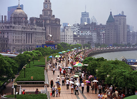 The Bund in central Shanghai, China