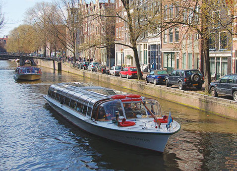 A canal tour of Amsterdam, Netherlands