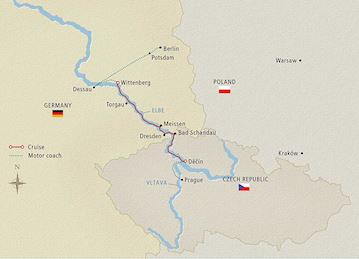 Elegant Elbe Map
