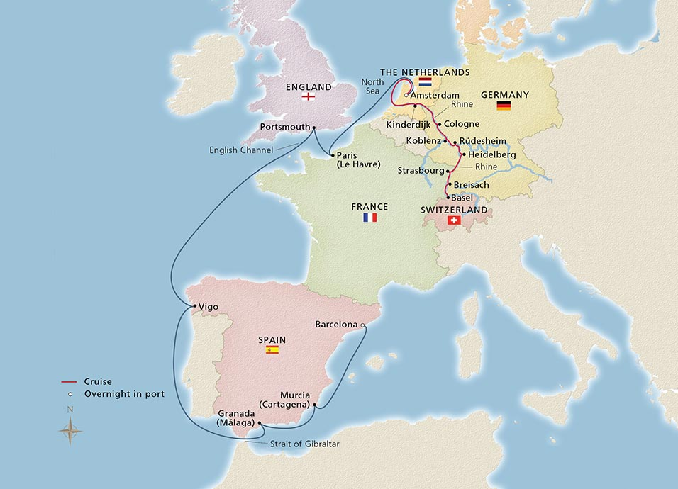 Rhine River Cruises Viking River Cruises - World river map download