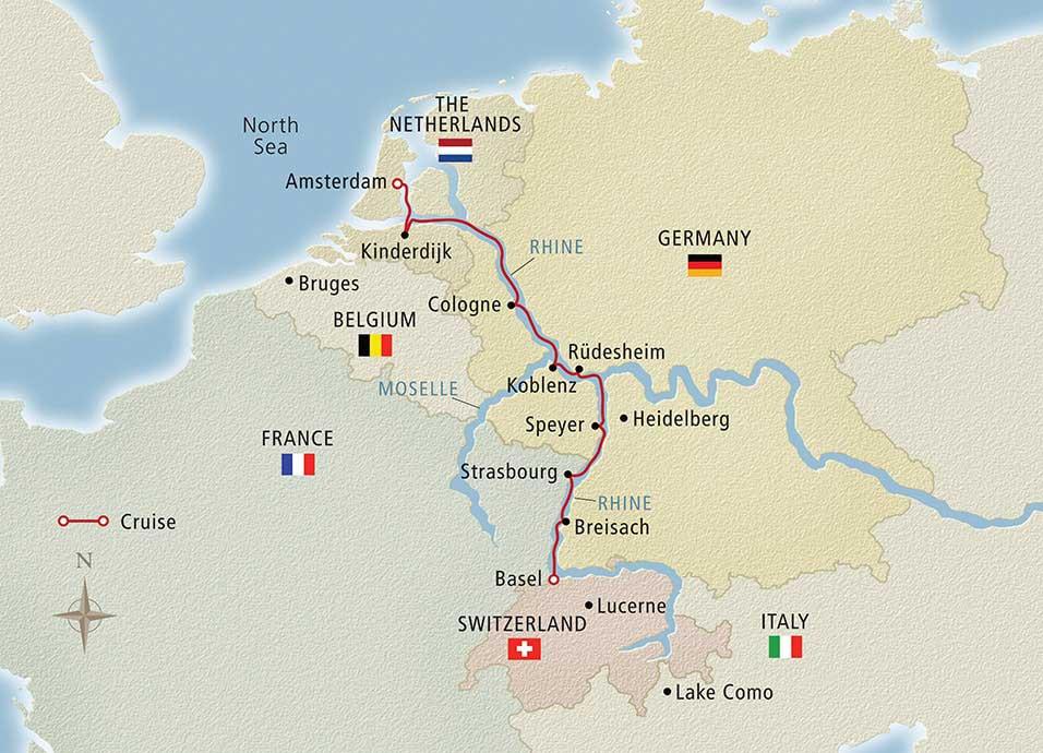Rhine River Cruise Map Rhine River Cruises | Viking® River Cruises Rhine River Cruise Map