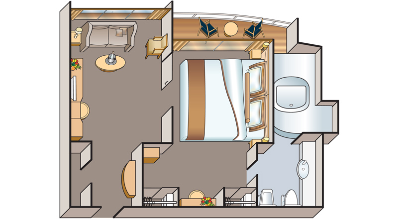 Floorplan of Veranda Suite stateroom on MS Antares