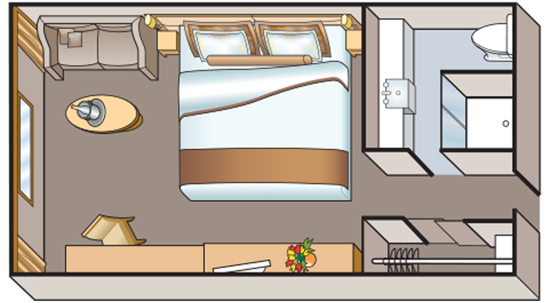 Viking Osiris Standard Stateroom Floor plan