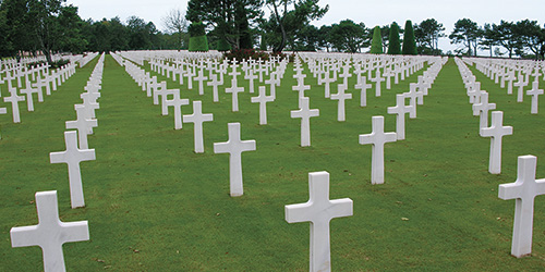 A WWII cemetary in Normandy