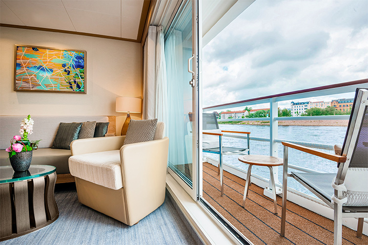 Veranda Suite Stateroom Balcony on Viking Beyla