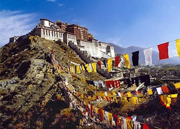 Potala Palace Prayer Flags in Lhasa