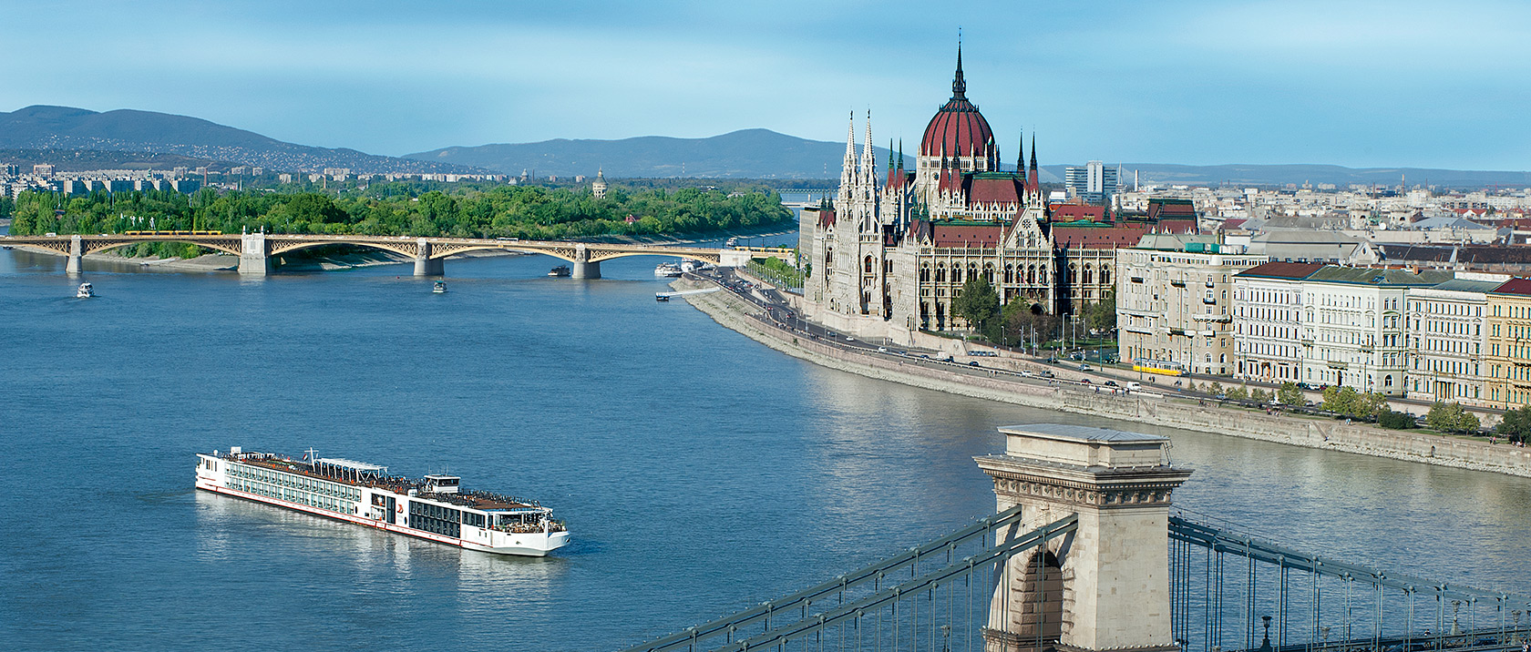 A Viking River Longship in Budapest