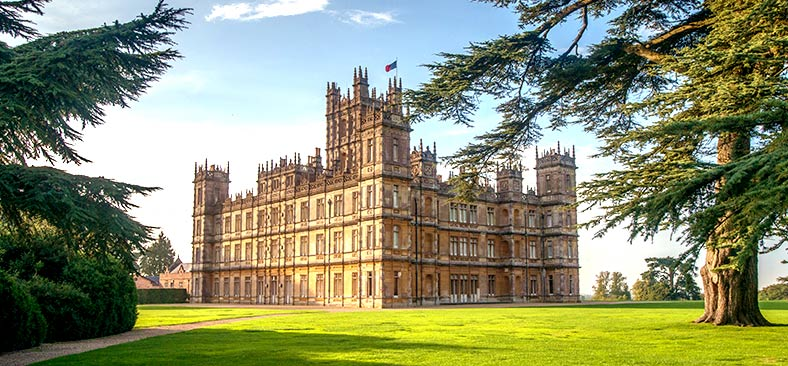 Exterior of Highclere Castle