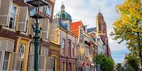 Slanting historic buildings in Hoorn