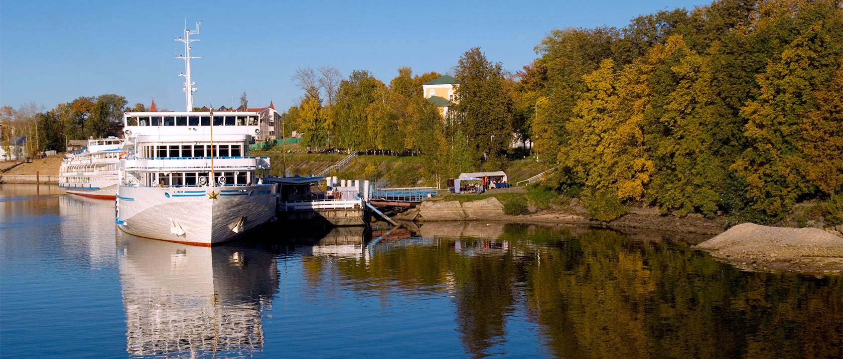Viking Russia vessels docked in Uglich, Russia