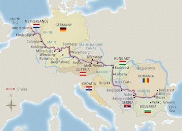 European Sojourn Map