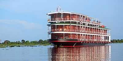 The Viking Mekong sailing along the Mekong river