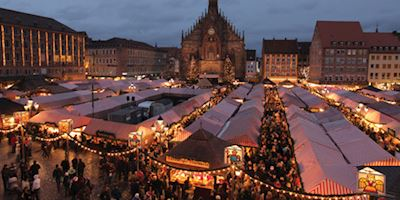 Christmas market in Nuremberg Germany