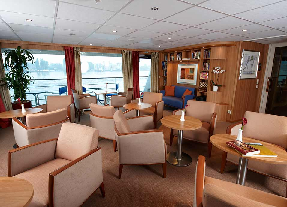 Library on board Viking Legend