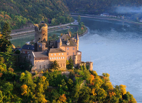 Rhine River Cruises: View of Katz Castle