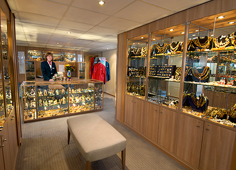Boutique on board Russia vessels