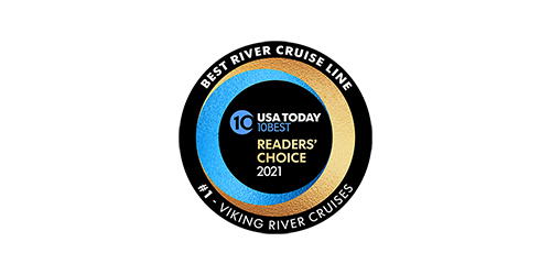 "USA Today 10BEST Readers' Choice 2021 ""Best River Cruise Line"" Award logo"