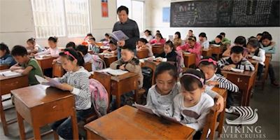 Schoolchildren in China readi